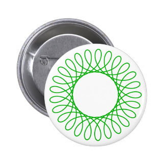 Green Spirograph 6 Cm Round Badge
