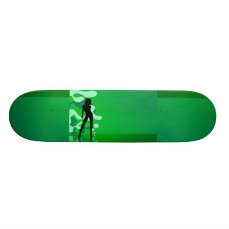 Green Splash Custom Skate Board