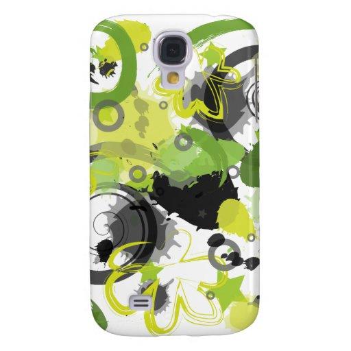 Green Splatter iPhone 3G Skin Samsung Galaxy S4 Covers