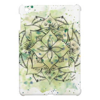 Green Splatter Mandala Cover For The iPad Mini