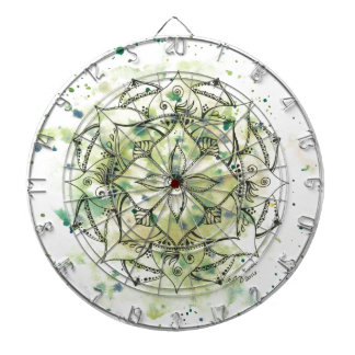 Green Splatter Mandala Dartboard
