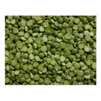 Green split peas postcard