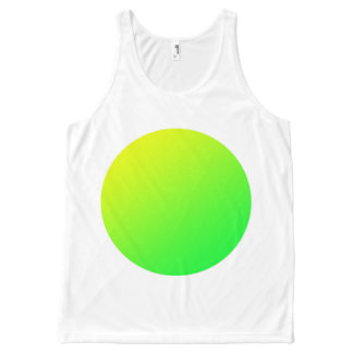 Green spot vest, add your own text.. All-Over print singlet