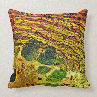 Green Spots in Glass Cushion