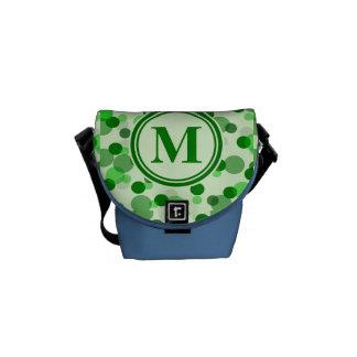 Green Spots Monogram Courier Bag