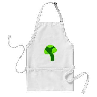 Green Spotted Mushroom Standard Apron