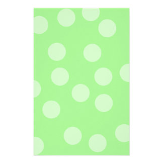 Green Spotty Pattern. Stationery Paper