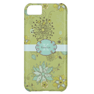 Green Spring Floral Pattern Background iPhone 5C Case