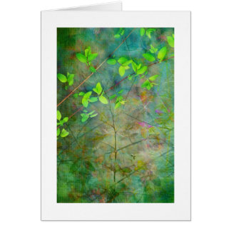 Green Spring leaves Card