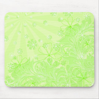 green spring mouse mats