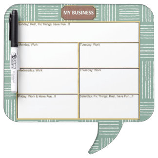 Green Square Speech Bubble w/ Pen Dry Erase Board