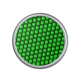 Green Squares Bumpster Speaker