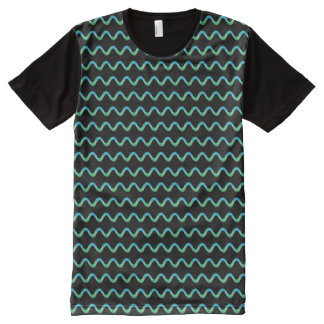 Green Squiggle All-Over Print T-Shirt