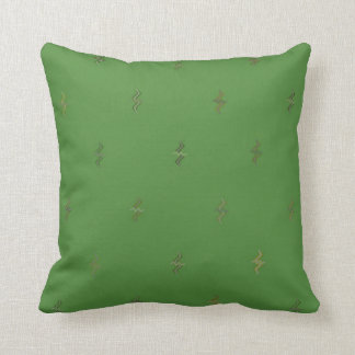 Green Squiggles Cotton Reversible Pillow