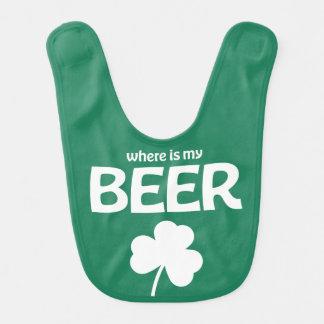 Green St Patricks Day Baby Bib