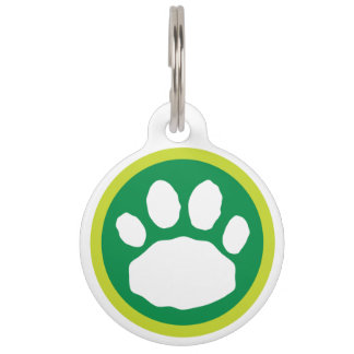 Green St. Patrick's Day Paw Pet Tag