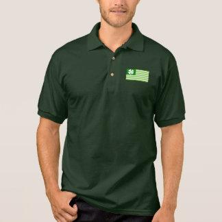 Green St Patricks Day polo shirt   Irish American