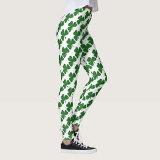 Green  St. Patrick's Day Shamrocks Leggings