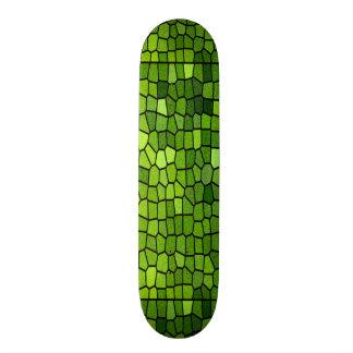 Green Stain Glass Design Skateboard Deck