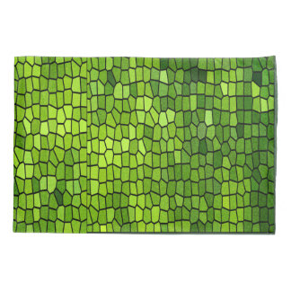 Green Stain Glass Look Pillowcase