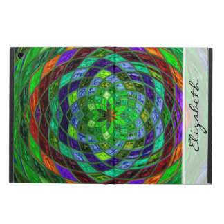 Green Stained Glass Mosaic Pattern Case For iPad Air