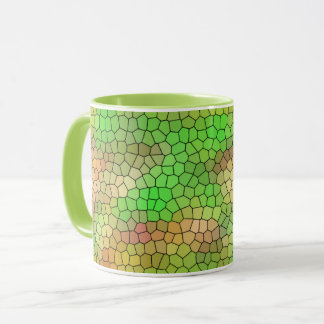 Green Stained Glass Pattern Coffee Mug
