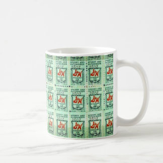 Green Stamp Collection Basic White Mug