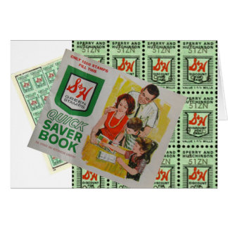 Green Stamps Greeting Card