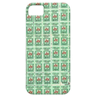Green Stamps iPhone 5 Covers