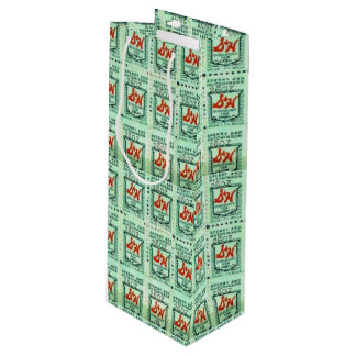 Green Stamps Nostalgia Wine Gift Bag