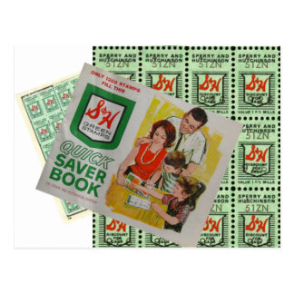 Green Stamps Postcard