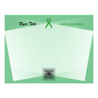 Green Standard Ribbon 21.5 Cm X 28 Cm Flyer