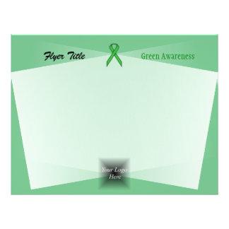 Green Standard Ribbon by Kenneth Yoncich 21.5 Cm X 28 Cm Flyer
