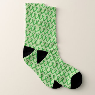 Green Standard Ribbon by Kenneth Yoncich Socks