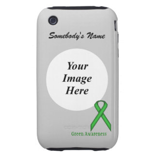 Green Standard Ribbon by Kenneth Yoncich Tough iPhone 3 Case