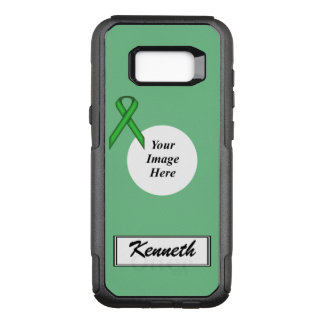 Green Standard Ribbon Template by Kenneth Yoncich OtterBox Commuter Samsung Galaxy S8+ Case
