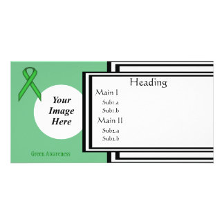 Green Standard Ribbon Template Personalised Photo Card