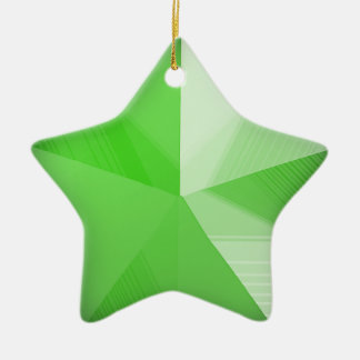 Green Star Holiday Ornament Customizable 3D look