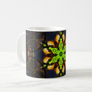 Green Star Mandala Coffee Mug