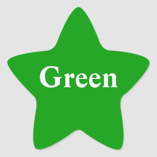 Green star Sticker
