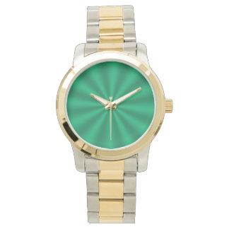 Green Starburst Watch