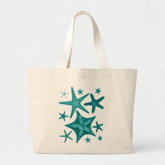 Green Starfish Collection 2 Jumbo Tote Bag