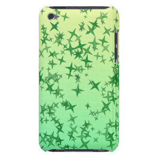 Green Stars Barely There iPod Covers