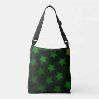 green stars crossbody bag