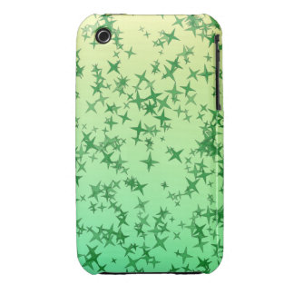 Green Stars iPhone 3 Case-Mate Cases