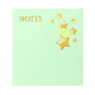 Green Stars Notepad