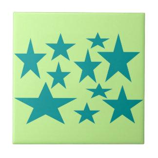 Green Stars tile