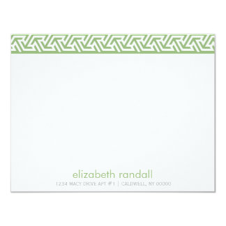 Green Static Pattern Thank You Notes Invitations