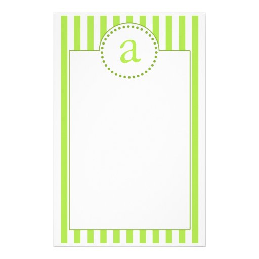 Green Stationery Paper