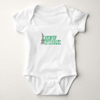 green statue of liberty art baby bodysuit
